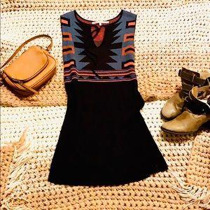 RACHEL ROY Aztec Sweater Dress